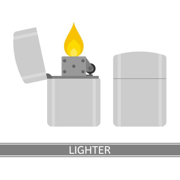 leichtere symbol vektor - feuerzeuggas stock-grafiken, -clipart, -cartoons und -symbole
