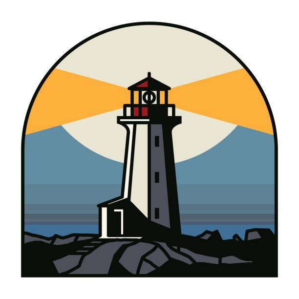 illustrations, cliparts, dessins animés et icônes de phare la nuit - phare