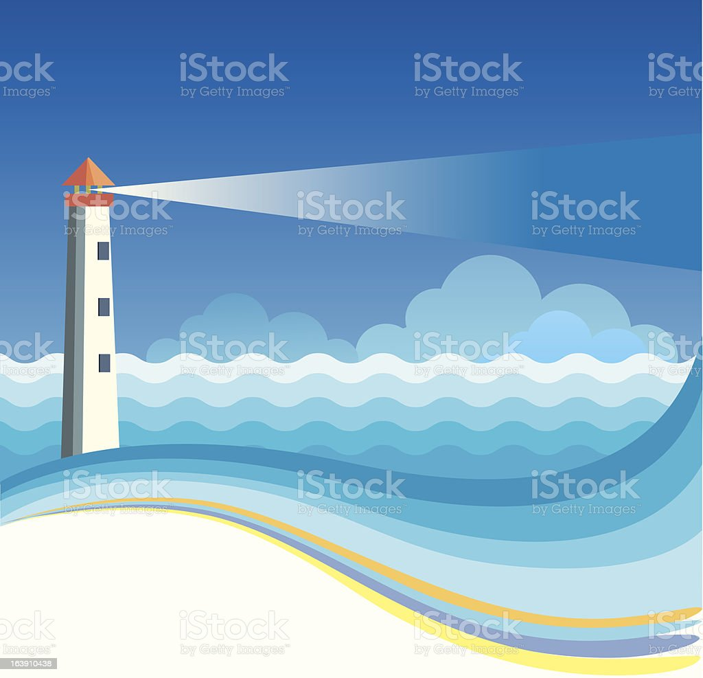 Lighthouse background royalty-free stock vector art