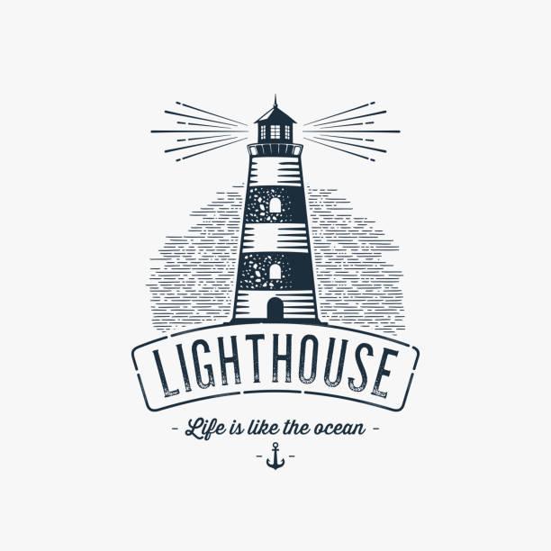 illustrations, cliparts, dessins animés et icônes de gris de phare bleu - phare