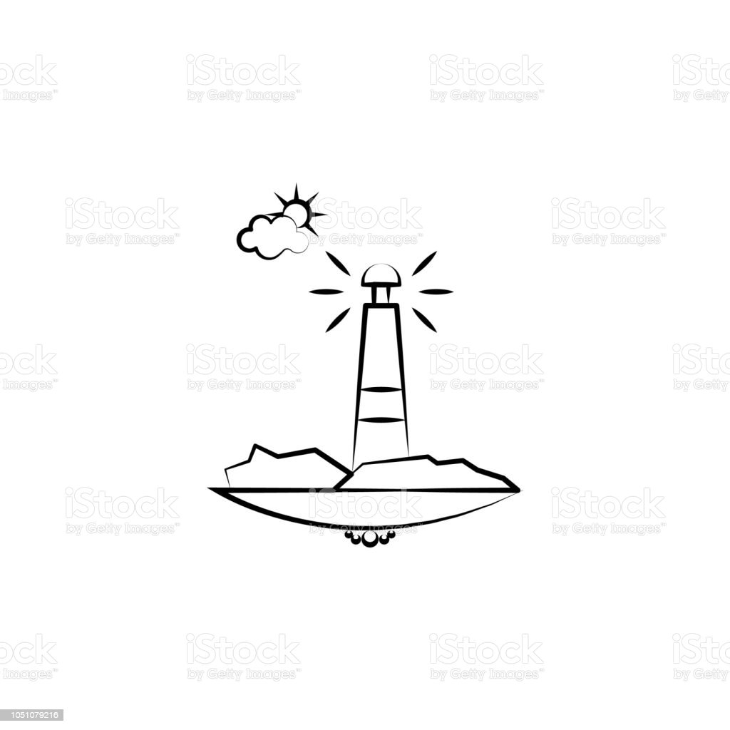 Deniz Feneri Bulut Gunes Simgesi Mobil Kavrami Ve Web Uygulamalari