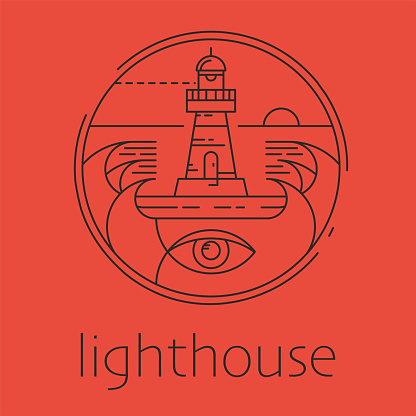 Lighthouse concept logo,