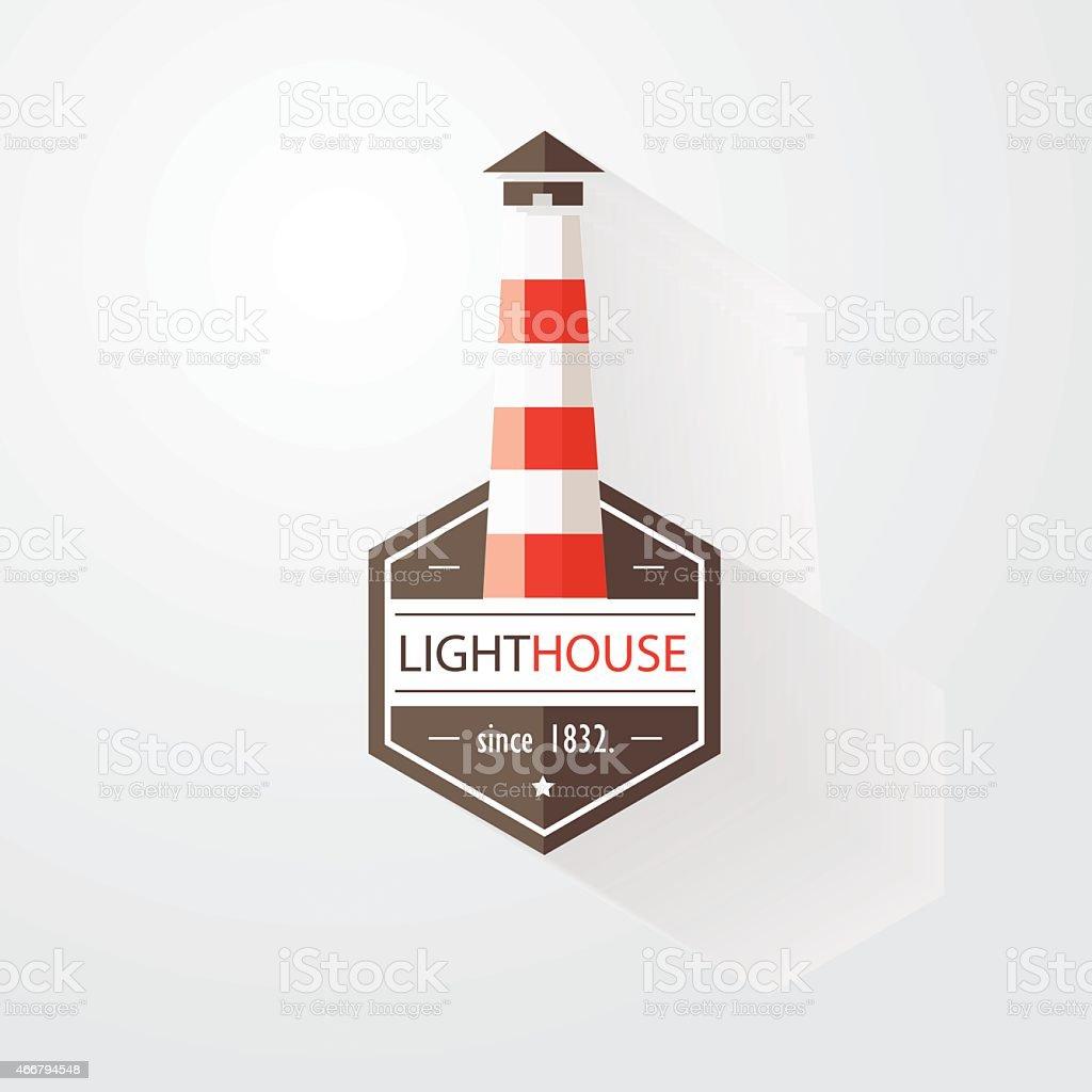 lighthouse design element vector illustration in modern flat design vector art illustration