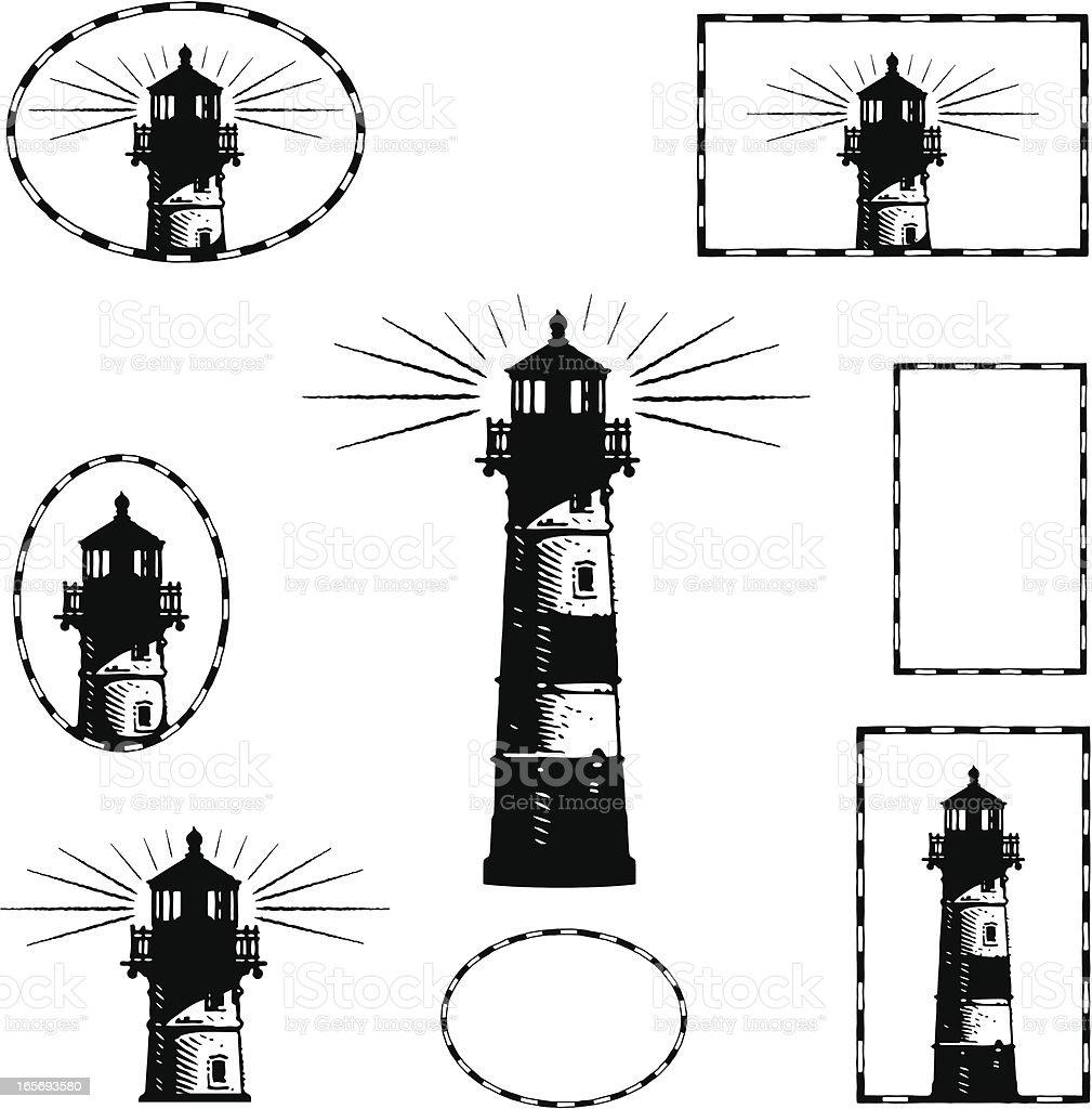 Lighthouse Design Elements royalty-free stock vector art