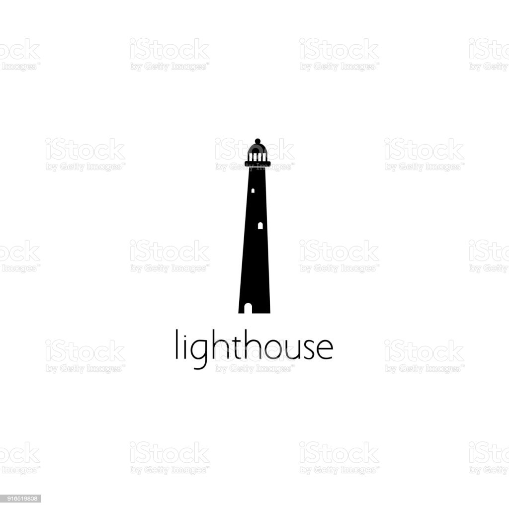 lighthouse  graphic design concept vector art illustration