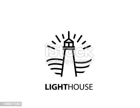 line, light house, design, sign