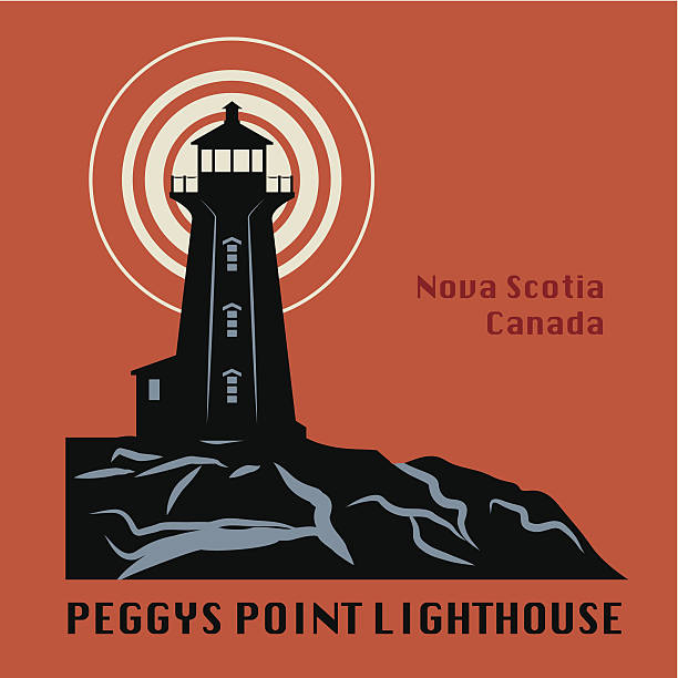 Lighthouse icon or sign Lighthouse icon or sign, vector illustration peggy's cove stock illustrations