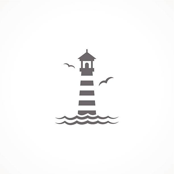 Lighthouse icon Lighthouse icon lighthouse stock illustrations
