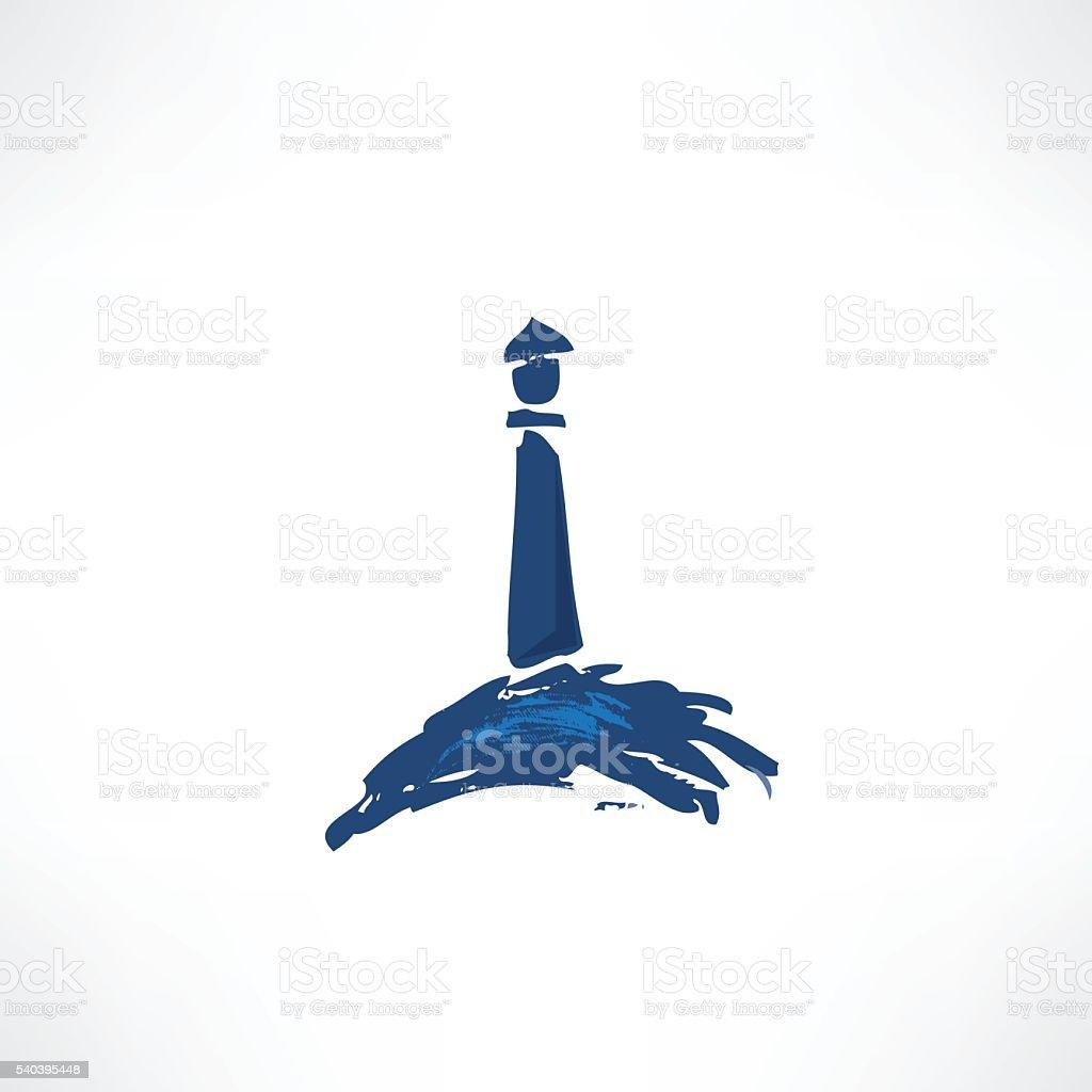 lighthouse icon vector art illustration
