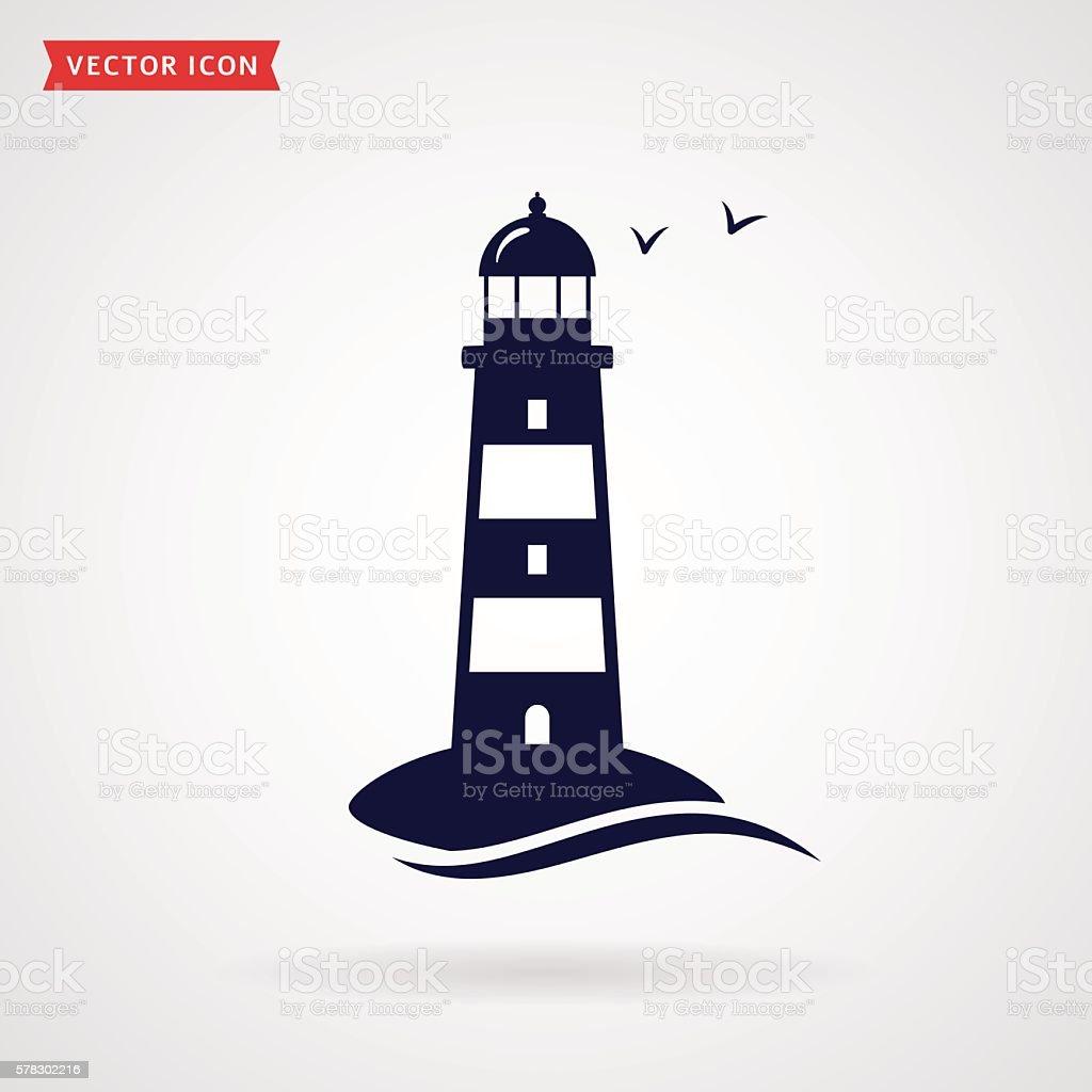 Lighthouse icon. vector art illustration