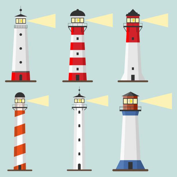 Lighthouse icon Lighthouse icon. Flat design, vector illustration, vector. lighthouse stock illustrations
