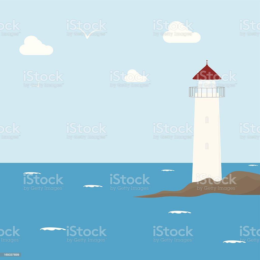 Lighthouse - incl. jpeg royalty-free stock vector art