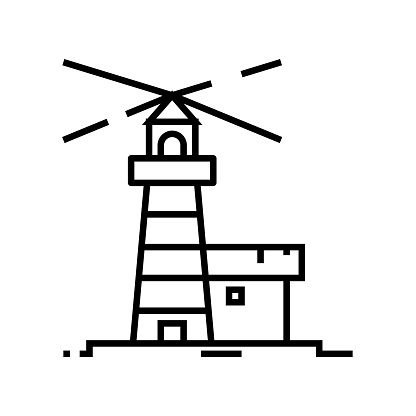 Lighthouse line icon, concept sign, outline vector illustration, linear symbol