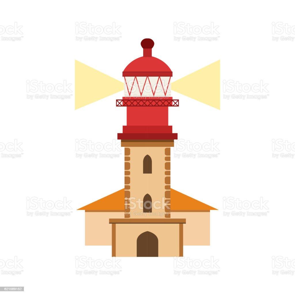 Lighthouse Of Nazare Portuguese Famous Symbol vector art illustration