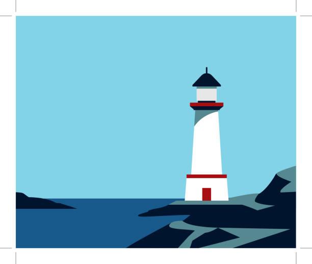 illustrations, cliparts, dessins animés et icônes de phare sur les pierres de roche - phare