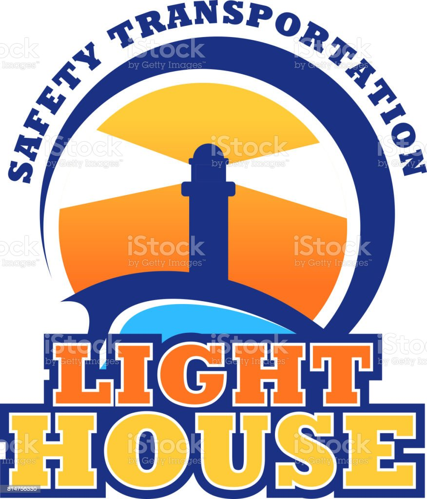 Lighthouse safety seafaring vector icon vector art illustration