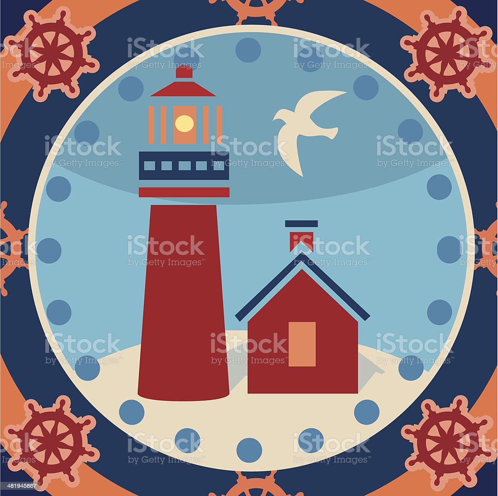 lighthouse scene royalty-free stock vector art
