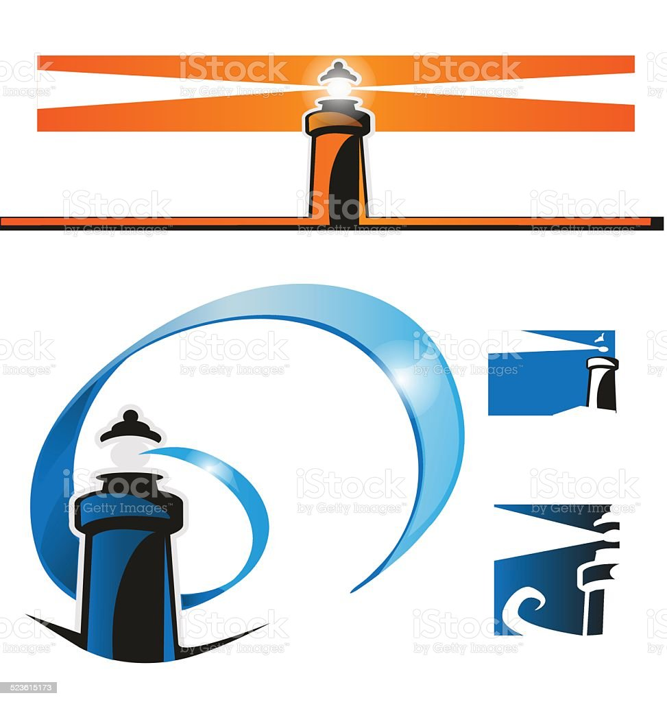 lighthouse symbol set royalty-free lighthouse symbol set stock vector art & more images of abstract