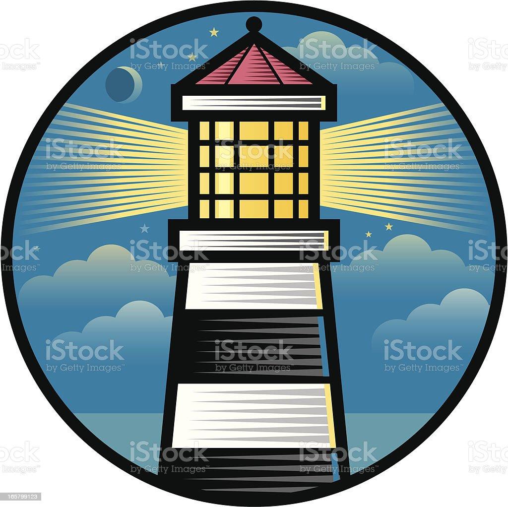 Lighthouse symbol royalty-free stock vector art