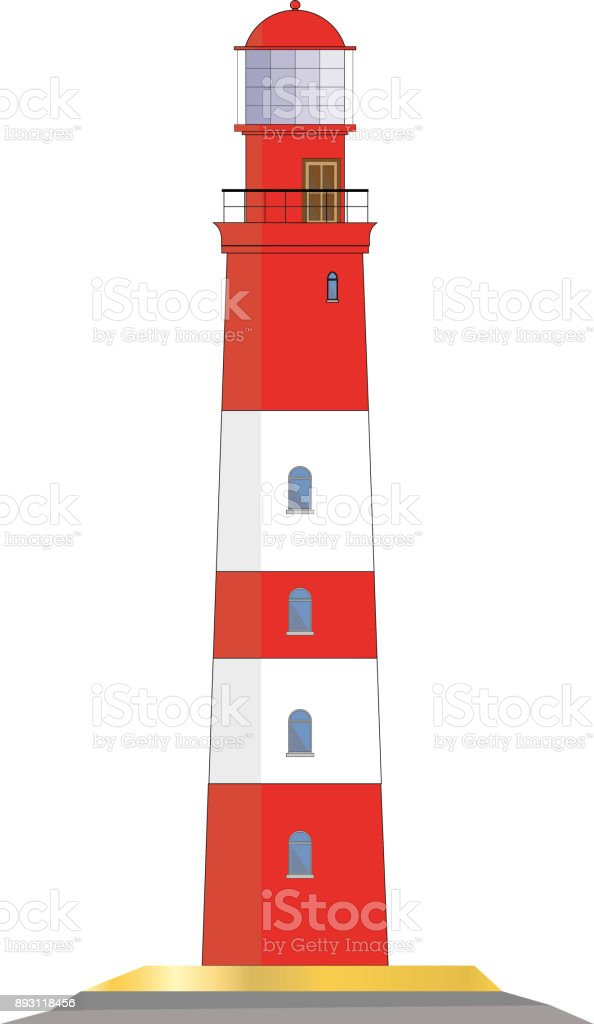 lighthouse vector graphic vector art illustration