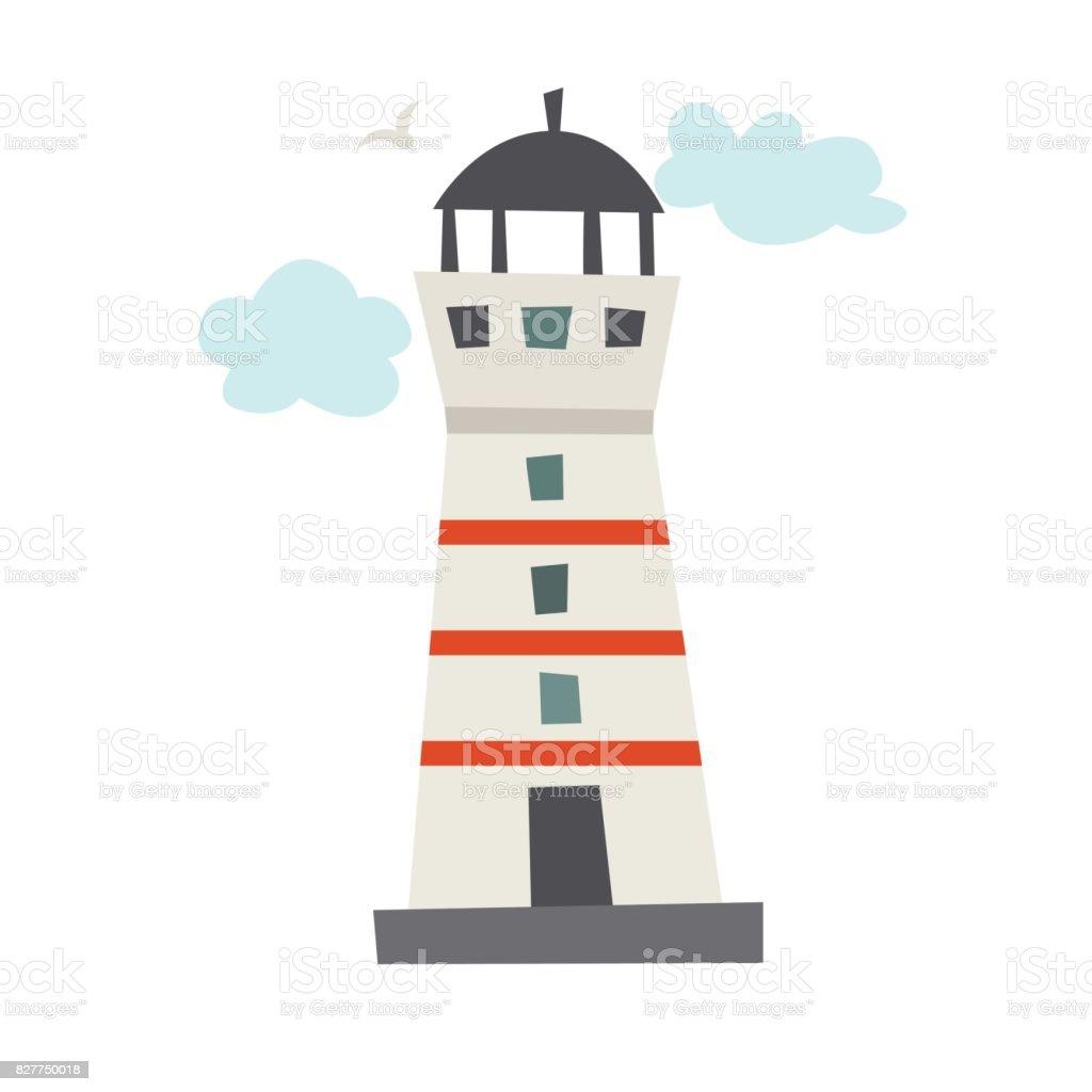 Lighthouse vector icon vector art illustration