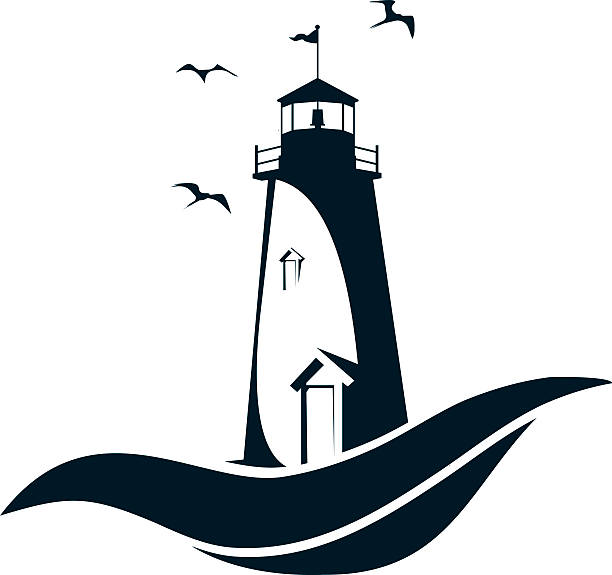 Best Lighthouse At Night Illustrations, Royalty-Free ...