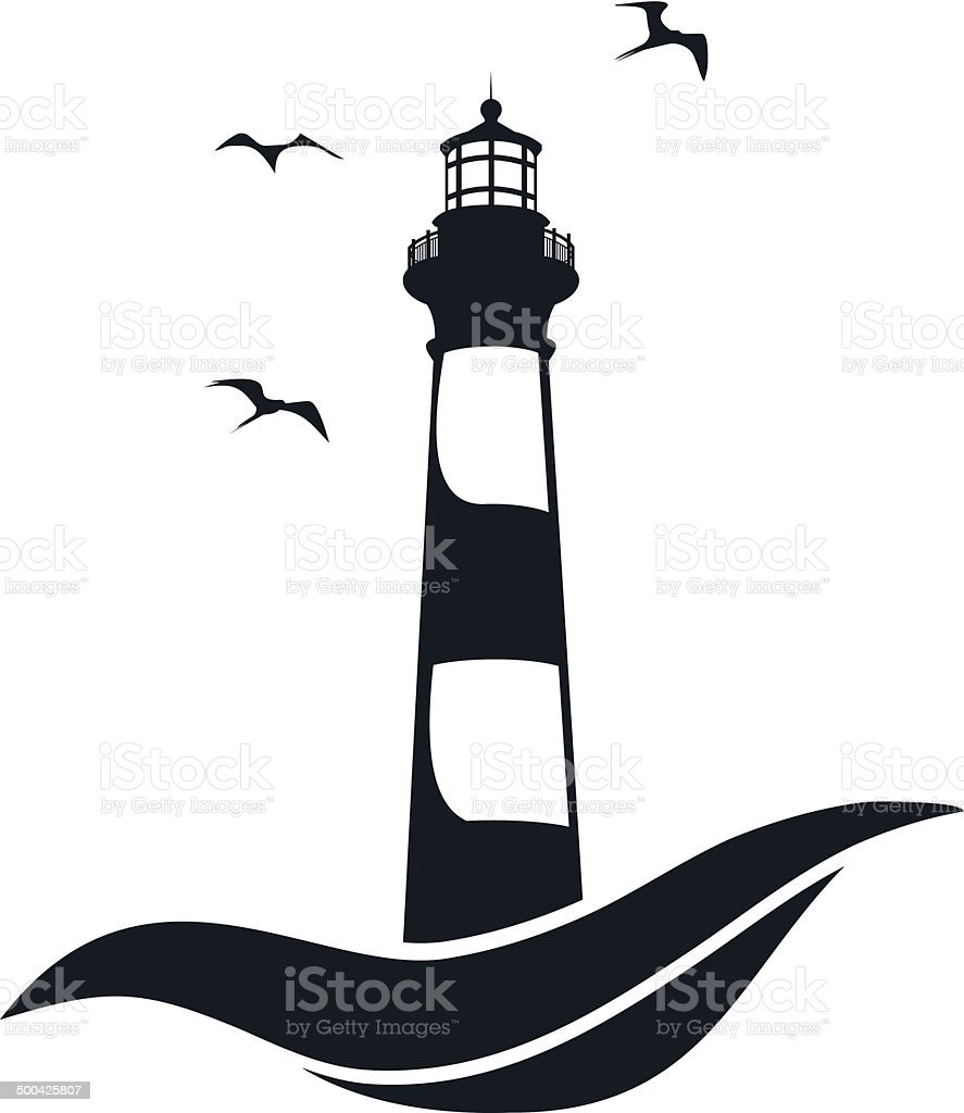 lighthouse stock vector art more images of backgrounds 500425807 rh istockphoto com lighthouse vector charts lighthouse vector png