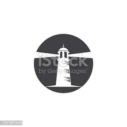 lighthouse vector illustration design template