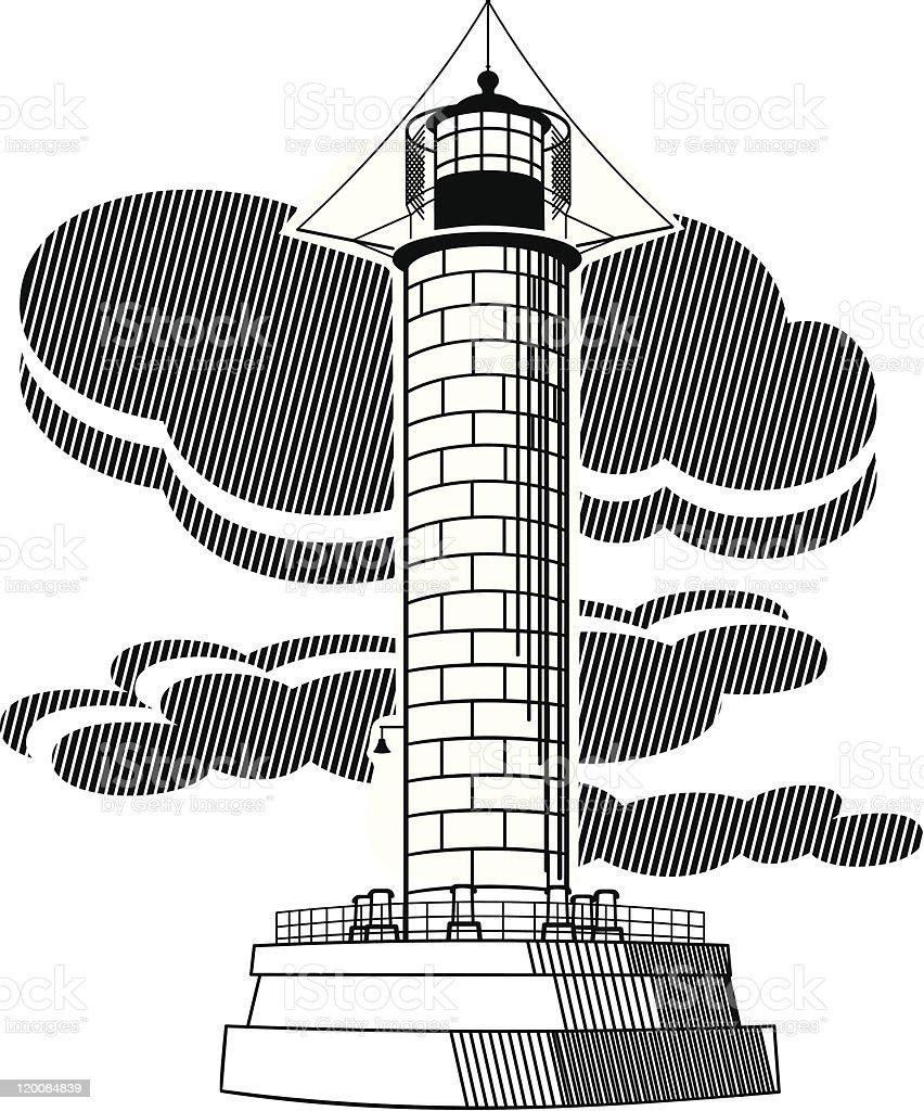 Lighthouse vector illustration royalty-free stock vector art