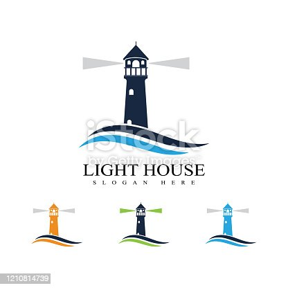 Lighthouse vector logo image