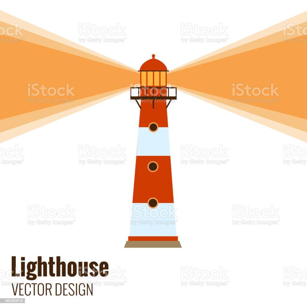 Lighthouse vector vector art illustration