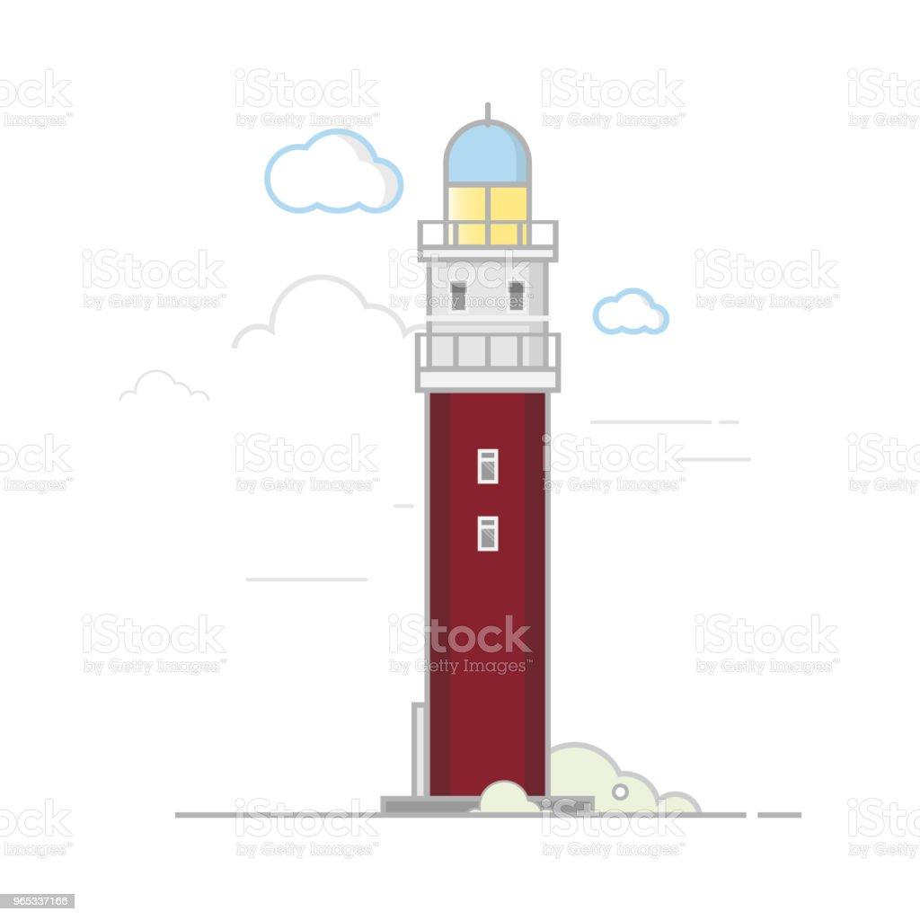 Lighthouse.Flat design. royalty-free lighthouseflat design stock vector art & more images of architecture