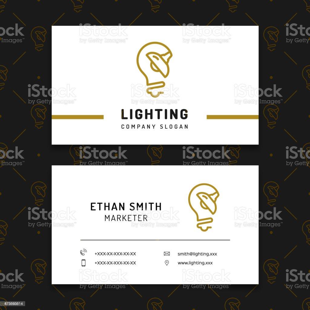 Modele De Carte Visite Agencement Magasin Lampe Lusine Electricals
