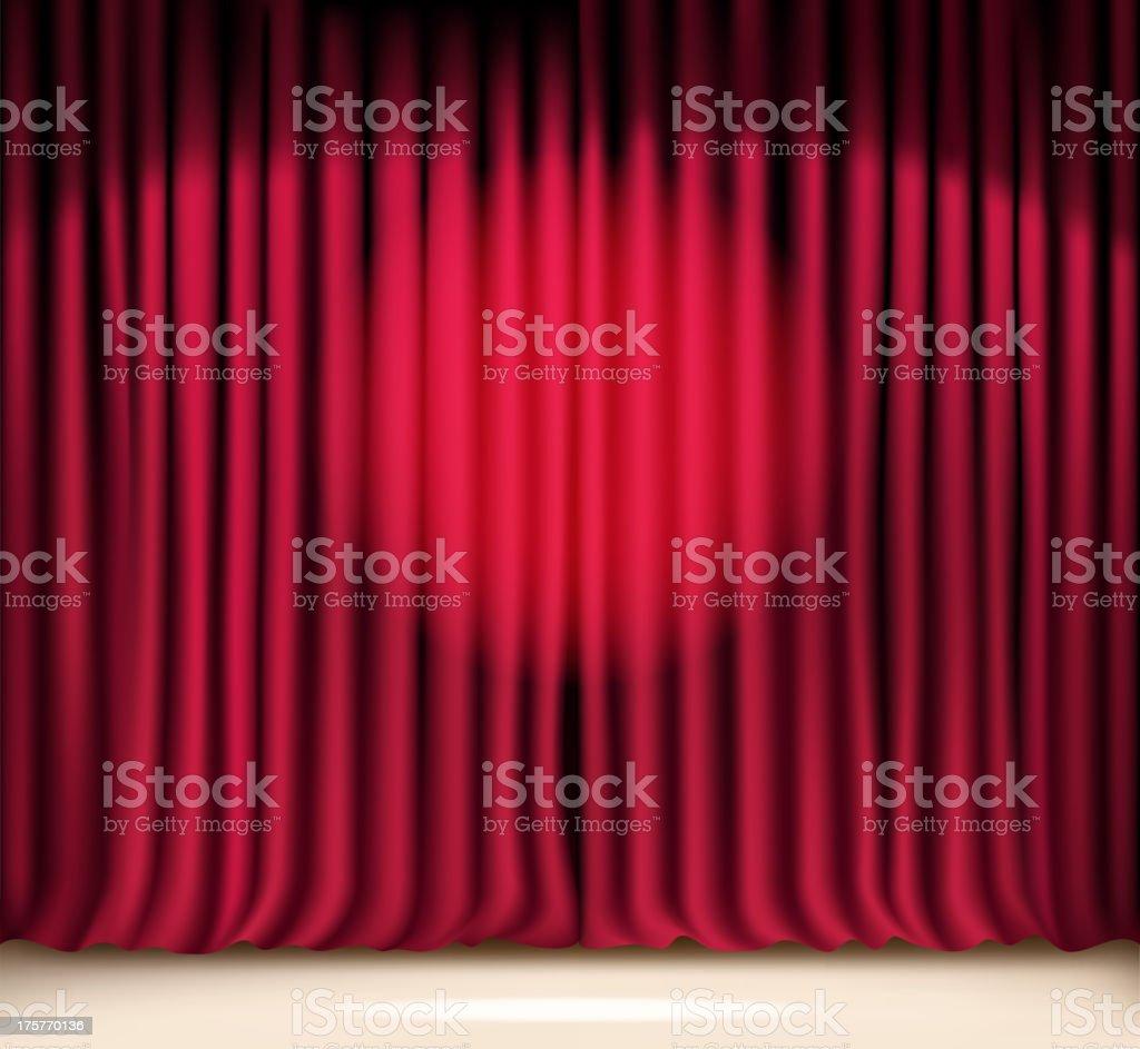 lighting curtain royalty-free stock vector art