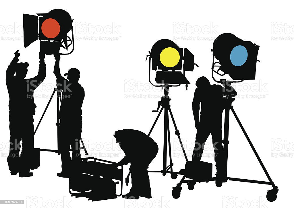 Lighting equipment workers royalty-free lighting equipment workers stock vector art u0026&; more images  sc 1 st  iStock & Lighting Equipment Workers Stock Vector Art u0026 More Images of Adult ...