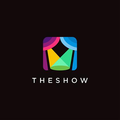 lighting stage show logo vector