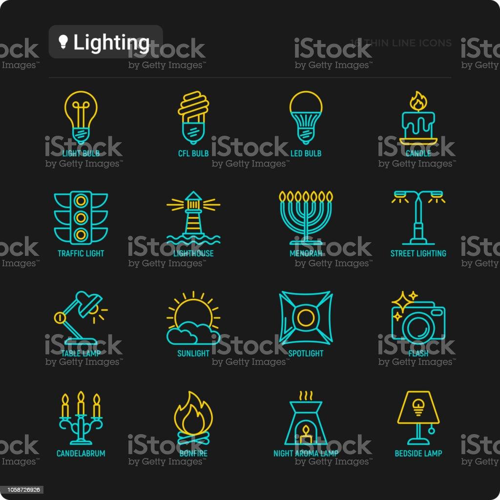 Déclairage Ampoule Ligne De Kit Bougie Fine Icônes Cfl Lampe Led kXZwOiTPlu
