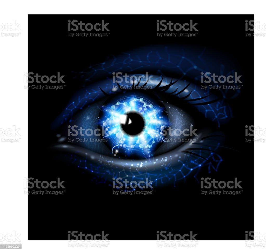 Lightining blue Eye royalty-free stock vector art