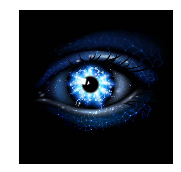 ilustrações de stock, clip art, desenhos animados e ícones de lightining olho azul - storm effects
