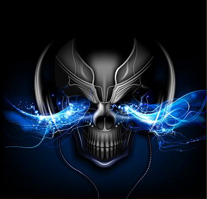 DJ lightining skull