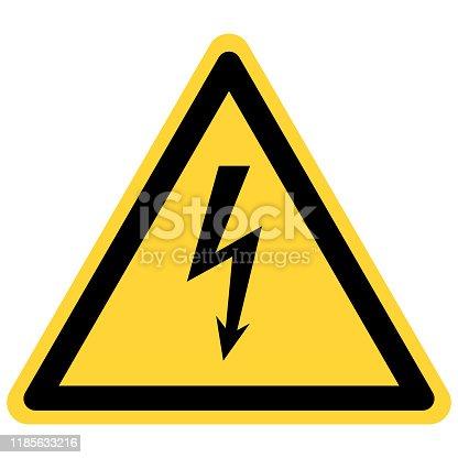 Lightning and danger sign