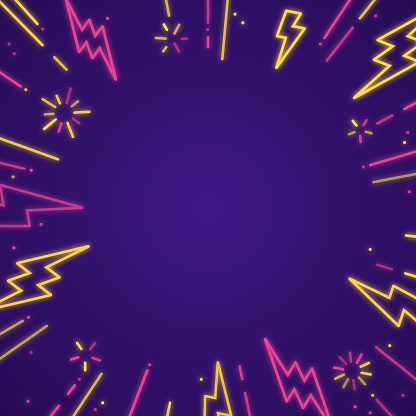 Lightning bolt blast line copy space background pattern.