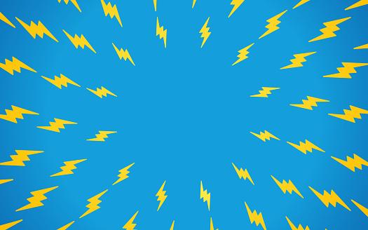 Lightning Bolt Background Pattern