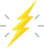 istock Lightning Bolt Icon - Illustration 1073258838