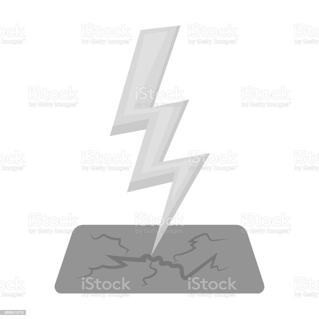 133e4a6f26 Icono del perno de relámpago en estilo monocromo aislado sobre fondo  blanco. Ilustración de vector
