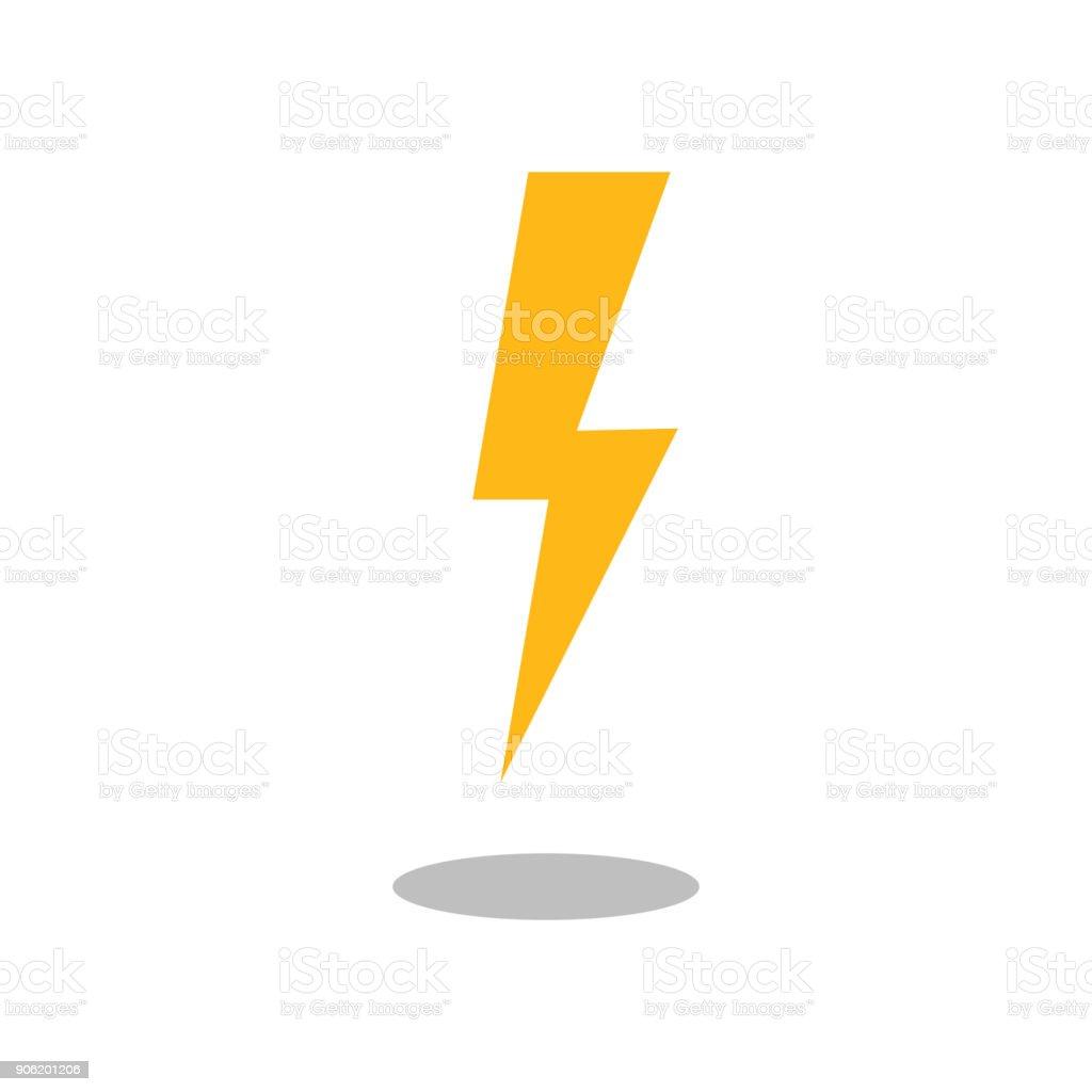Lightning Bolt Icon Vector Filled Flat Sign Solid Pictogram ...