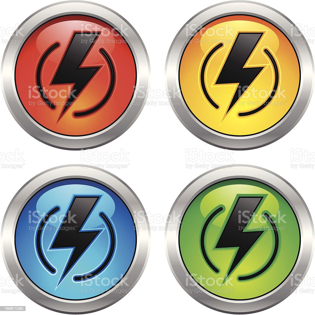 Lightning Bolt Icon royalty-free lightning bolt icon stock vector art & more images of clip art