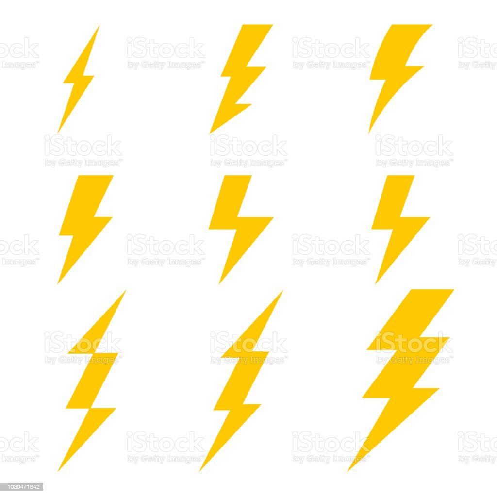 lightning bolt icons thunderbolt vector set royalty free lightning bolt icons thunderbolt vector
