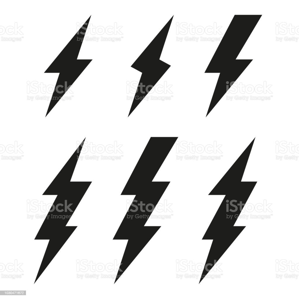 Lightning bolt icons. Thunderbolt. Vector set Lightning bolt icons. Thunderbolt. Vector set Abstract stock vector