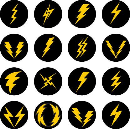 Lightning Bolt Icons